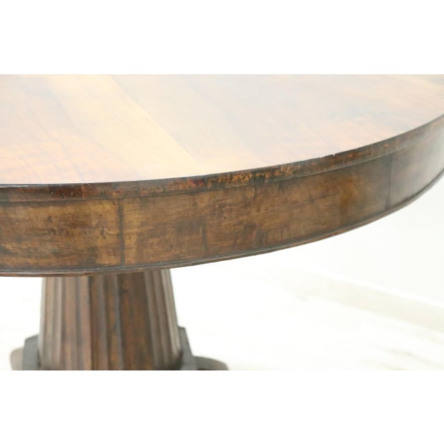 19th Century Empire Walnut Round Centre Table For Sale - Image 9 of 12