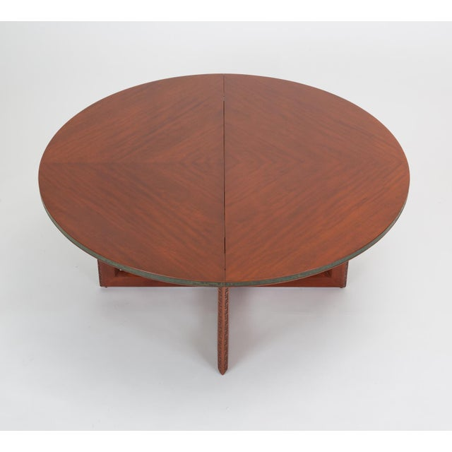 """Arts & Crafts Frank Lloyd Wright """"Taliesin"""" Game Table With Four Chairs For Sale - Image 3 of 13"""