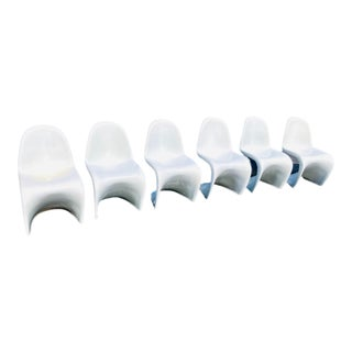 S Chairs in the Style of Verner Panton - Set of Six For Sale