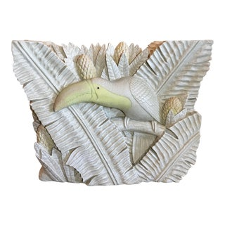 Sculptural Palm Leaf and Toucan Console Dining Table Base For Sale