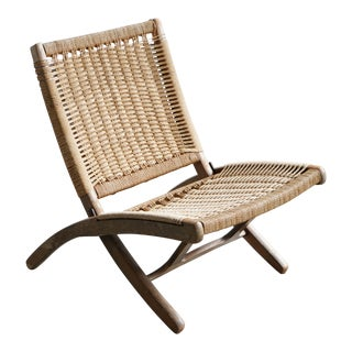 Woven Chord Lounge Chair For Sale
