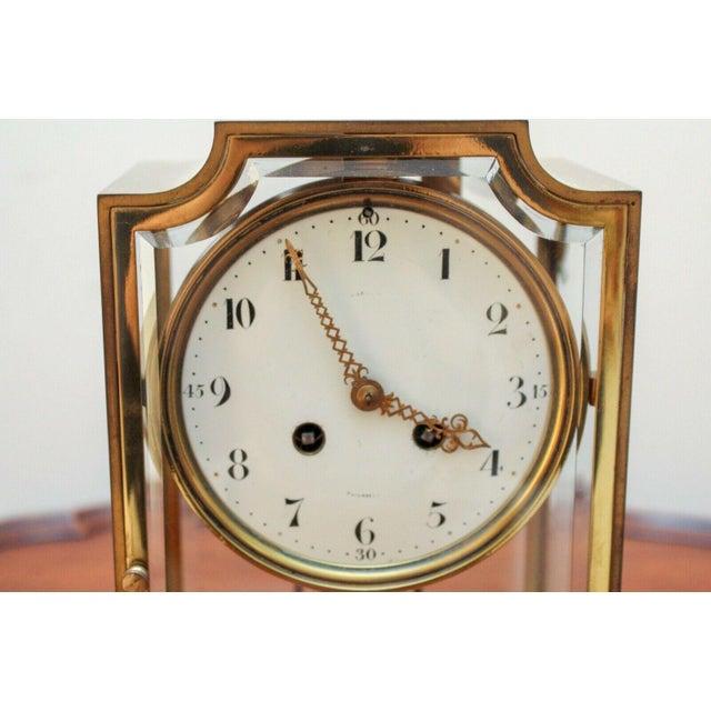 Bailey Banks Biddle French Made Four Glass Crystal Regulator Mantel Clock Chairish