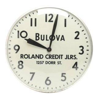 Bulova Advertising Wall Clock For Sale