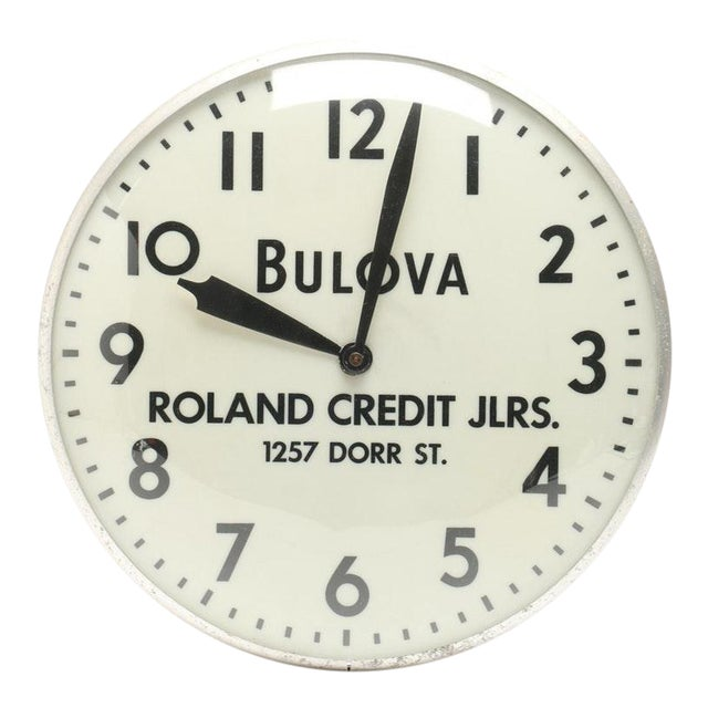 Bulova Advertising Wall Clock For Sale