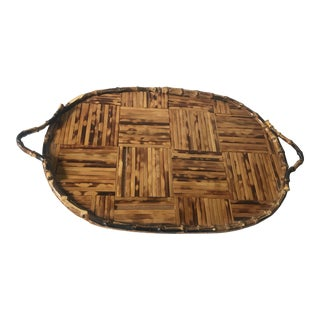 Antique Victorian Bamboo Tray
