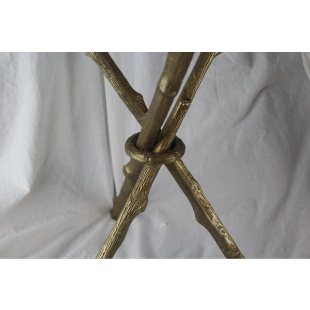 Hollywood Regency 20th Century Hollywood Regency Bamboo Side Table For Sale - Image 3 of 9