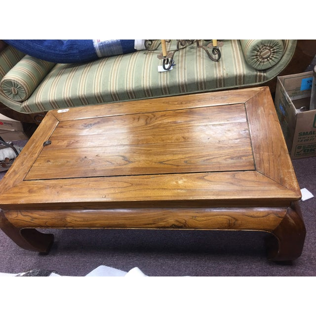 Elm 20th Century Chinese Elmwood Coffee Table For Sale - Image 7 of 11