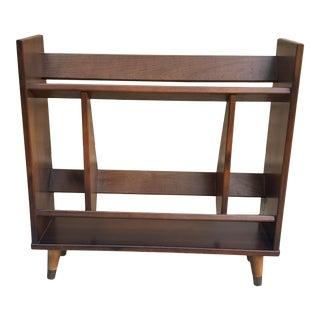 Vintage Mid Century Wooden Bookcase For Sale