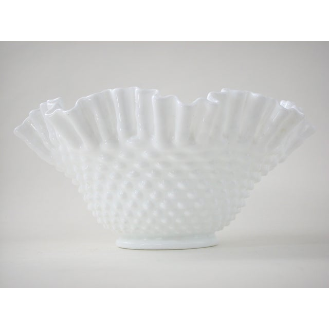 Vintage Milk Glass Hobnail Bowl - Image 3 of 6