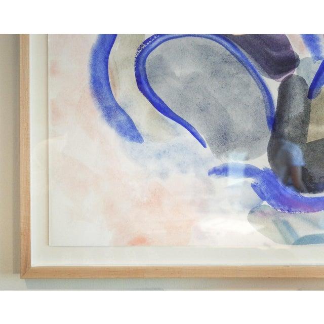 """Blue Imaginary Landscape #1, Mark Frohman, Framed 56"""" X 40"""" For Sale - Image 8 of 9"""