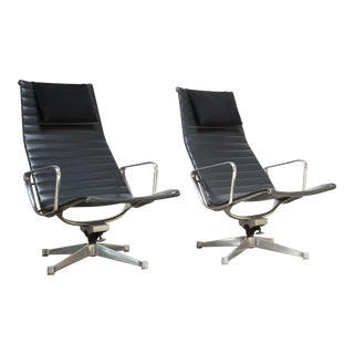 Pair of Early Eames Aluminum Group Chairs for Herman Miller