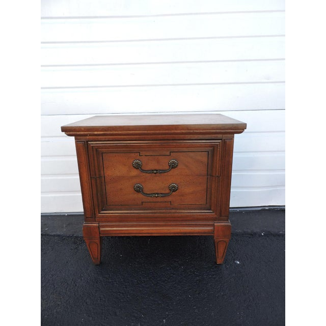 Wood Pair of Nightstands Side End Tables by Dixie For Sale - Image 7 of 11