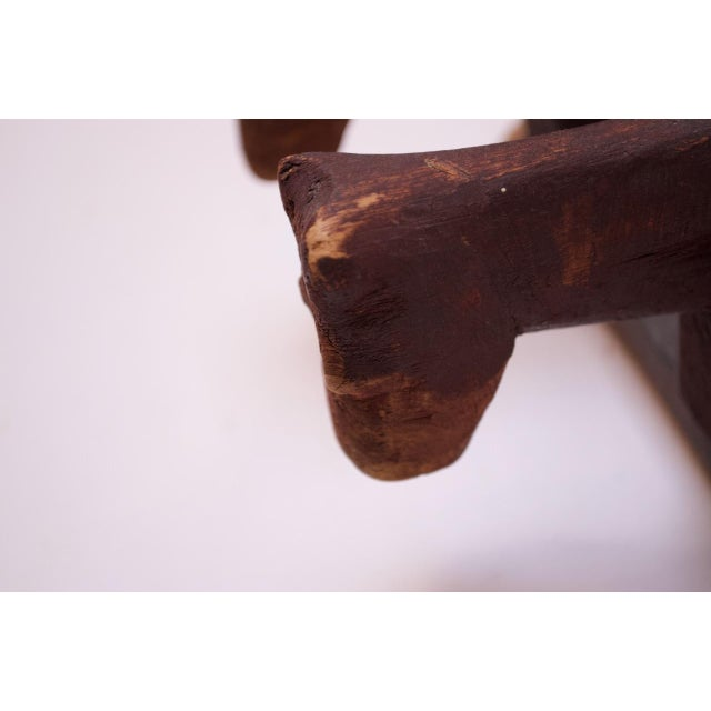 Vintage Hand-Carved Wooden Cattle Cart For Sale In New York - Image 6 of 13