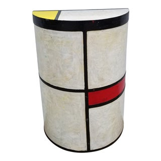 Piet Mondrian Tribute by H. Lopez Pedestal. For Sale