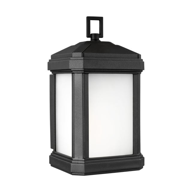 Traditional Lynda Small One Light Outdoor Wall Lantern, Black For Sale - Image 3 of 3