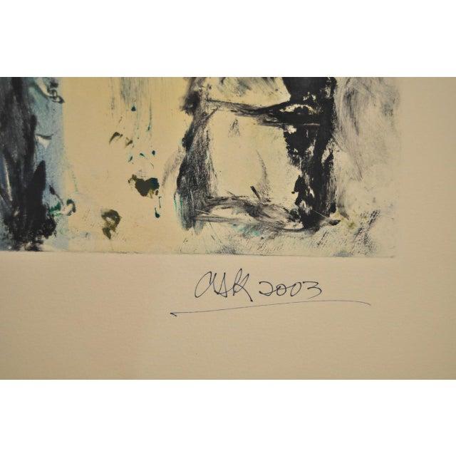 "Arthur Krakower ""Mama at Rockaway"" Original Monotype C. 2003 - Image 5 of 5"