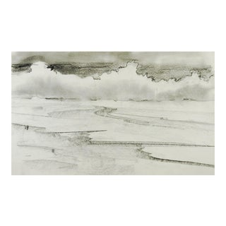 Modernist Pencil Landscape Drawing For Sale