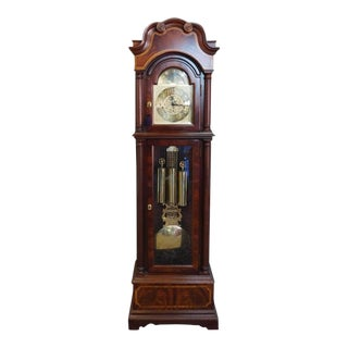 Banded Mahogany Seth Thomas Grandfather Clock c1990s