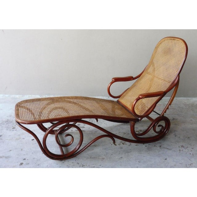 Mid-Century Modern 20th Century Mid-Century Modern Thonet Chaise Lounge Chair For Sale - Image 3 of 13