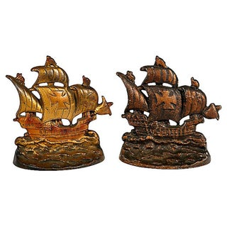 1950s Pirate Ship Bookends, Pair Preview