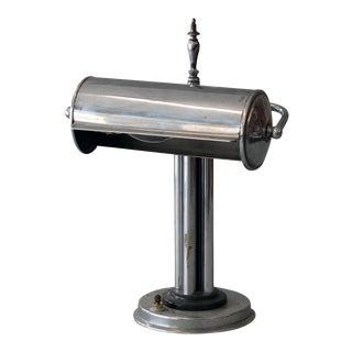 Vintage Sarreid Ltd Silver Banker's Desk Lamp