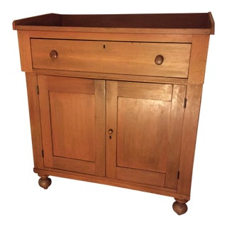 Antique Country Cupboard With Gallery Top