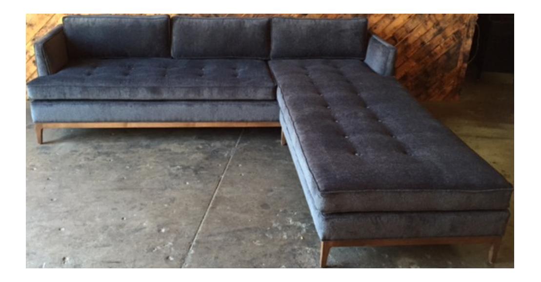 Mid Century Style Custom Reversible Sofa Chaise Lounge Chairish