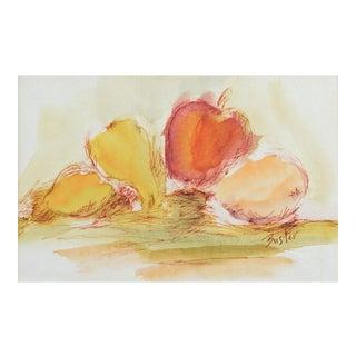 Apples & Pears Watercolor Painting