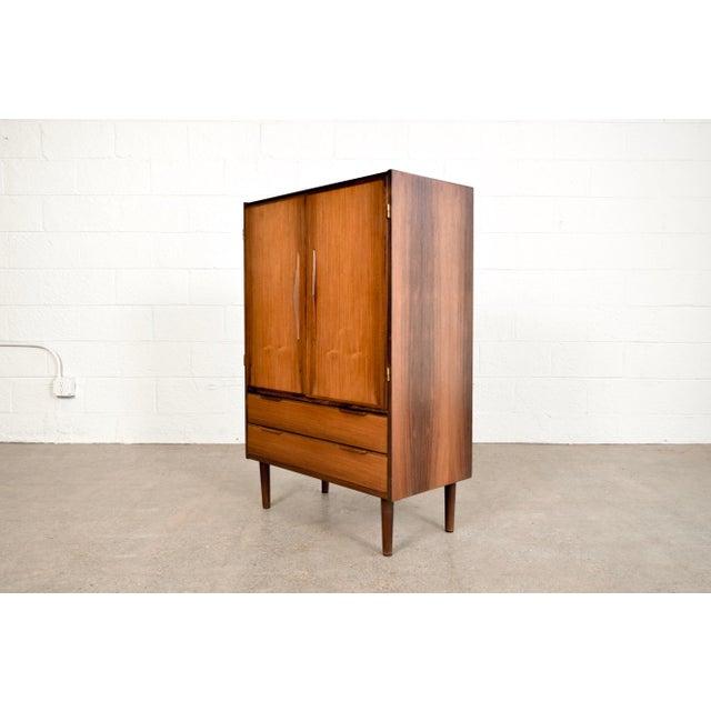 Danish Modern Mid Century Danish Modern Rosewood Bar Cabinet For Sale - Image 3 of 11