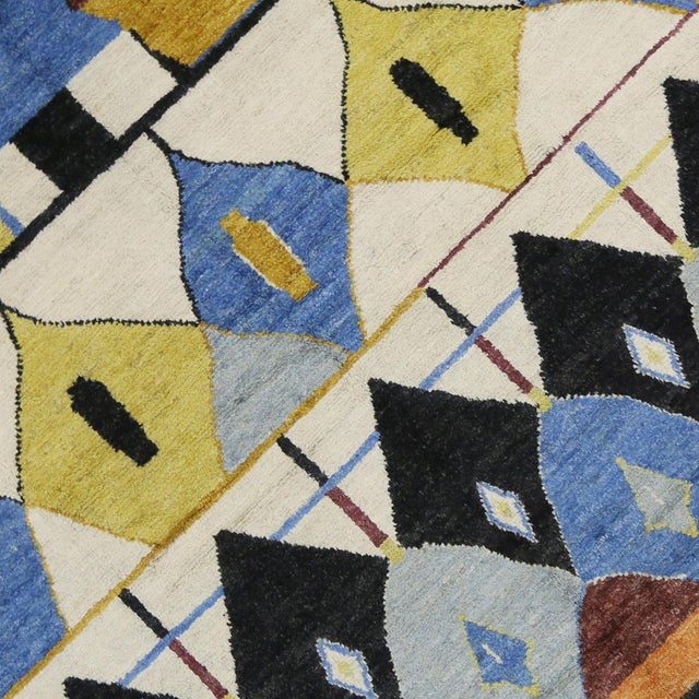 Contemporary Moroccan Style Rug with Modern Geometric Design - Image 4 of 6