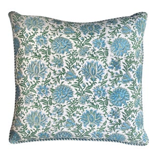 "Kota Block Print Pillow 26"" X 26"" For Sale"