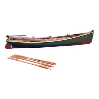 Vintage Whitehall Skiff Model Wooden Row Boat For Sale