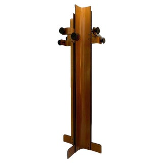 1960s Coat Rack in Multiplex Curved Wood by Campo Graffi For Sale