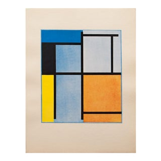 1947 Piet Mondrian Composition Parisian Lithograph For Sale