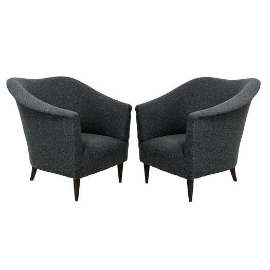 Textile A Pair of Sculptural Armchairs For Sale - Image 7 of 7