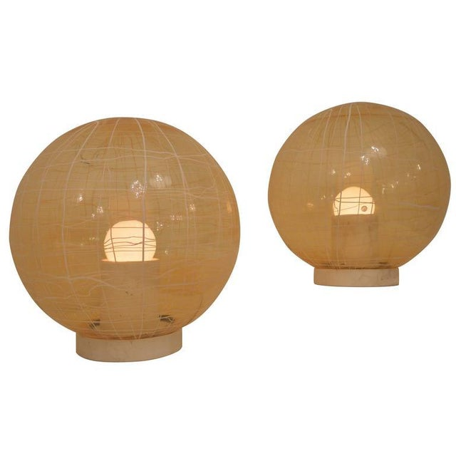 Pair of Large Murano Floor Lamps by La Murina on a Travertine Base - Image 10 of 10