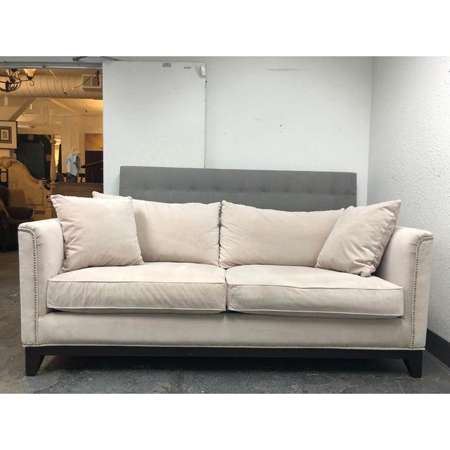 Fantastic Contemporary Z Gallerie Pauline Cream Velvet Sofa Ibusinesslaw Wood Chair Design Ideas Ibusinesslaworg