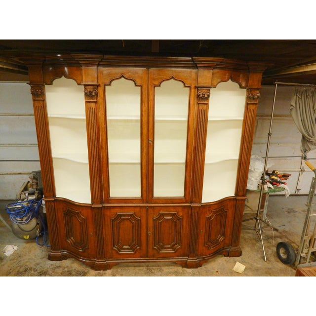 Narrow Walnut 19th C Italian Breakfront For Sale In New Orleans - Image 6 of 8