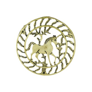 Antique English Brass Unicorn Trivet For Sale