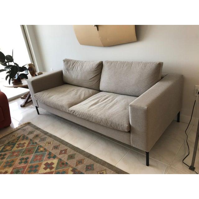 "Modern Blu Dot Modern Light Gray Standard 78"" Sofa For Sale - Image 3 of 4"