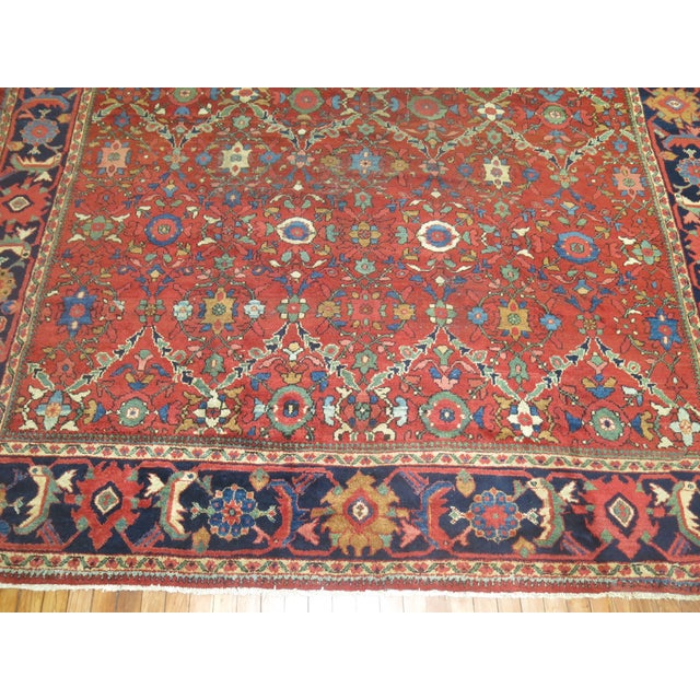 "Islamic Antique Persian Mahal Rug - 9'2"" X 13' For Sale - Image 3 of 7"