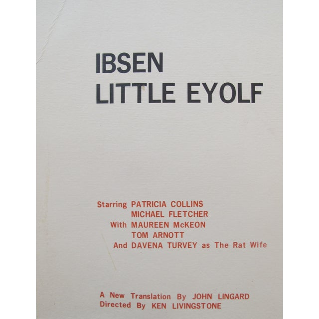 1978 Little Eyolf Centre Stage Theatre Poster - Henrik Ibsen For Sale - Image 4 of 4