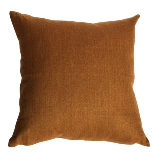 Gold Linen Square Pillow