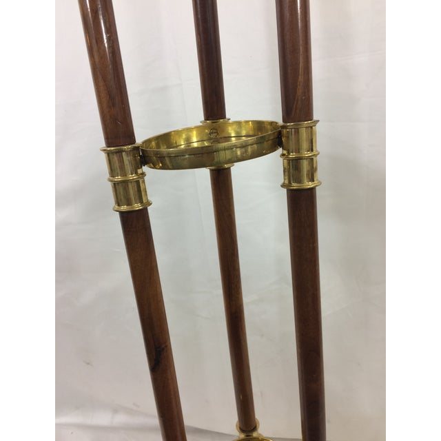 Napoleon III Empire Mahogany and Brass Stand with Swan Heads For Sale - Image 5 of 9