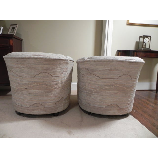 Drexel Contemporary Classics Barrel Chairs - Pair For Sale - Image 3 of 6
