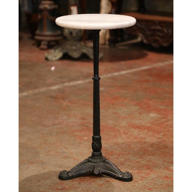 Early 20th Century French Iron Martini Pedestal Table For Sale In Dallas - Image 6 of 6