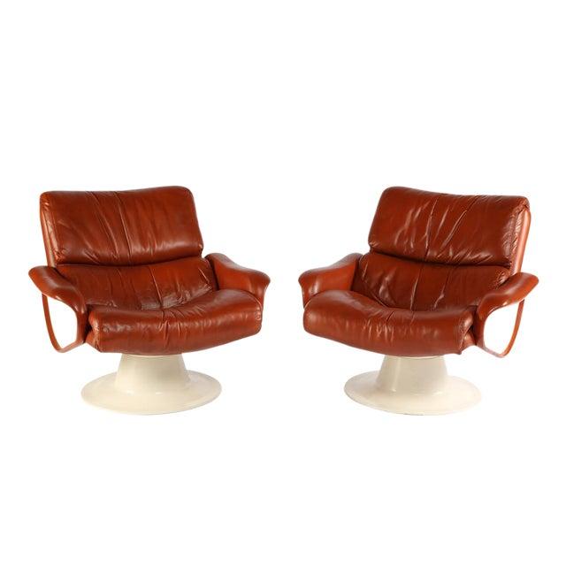 "1960'S vintage YRJO KUKKAPURO ""SATURN"" LOUNGE CHAIRS- a pair For Sale"
