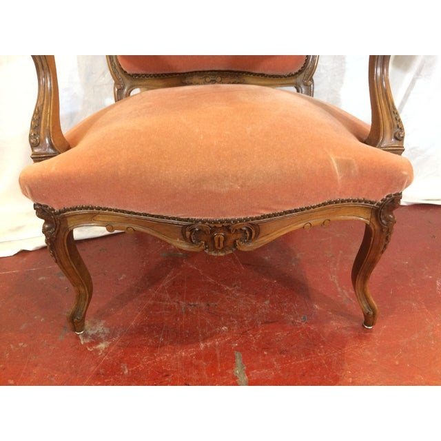 Louis XV Style Arm Chairs - a Pair For Sale - Image 10 of 11
