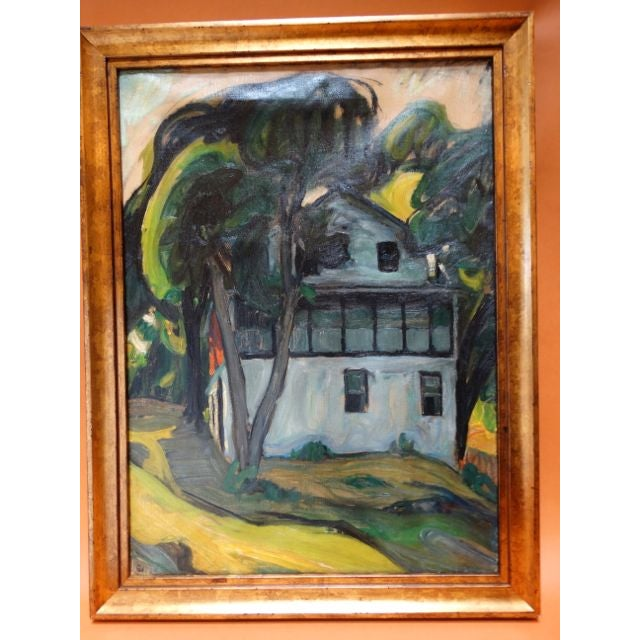 "Contemporary ""Santa Barbara Adobe"" Painting by Ejnar Hansen For Sale - Image 3 of 7"