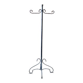 Regency Style Faux Bamboo Coat Rack For Sale